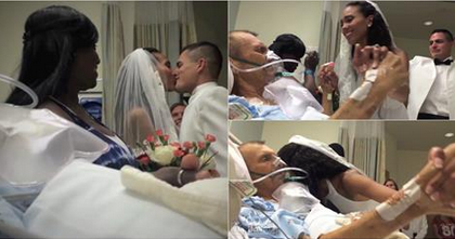 This young woman celebrated her wedding at the hospital so she could be near her father who suffers from cancer!