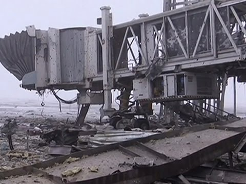 Images from the Donetsk airport