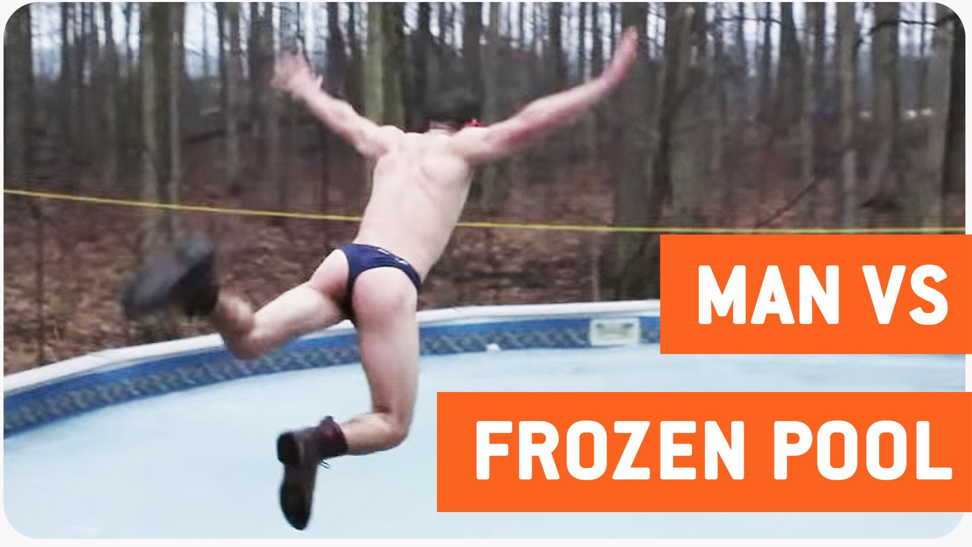 Jumping into the… frozen pool!