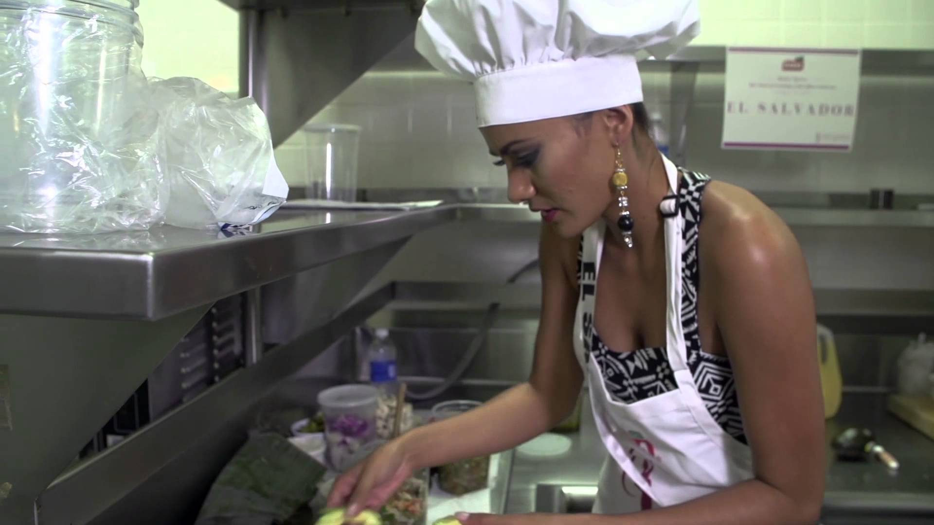 Miss Universe pageant sees the girls in the kitchen