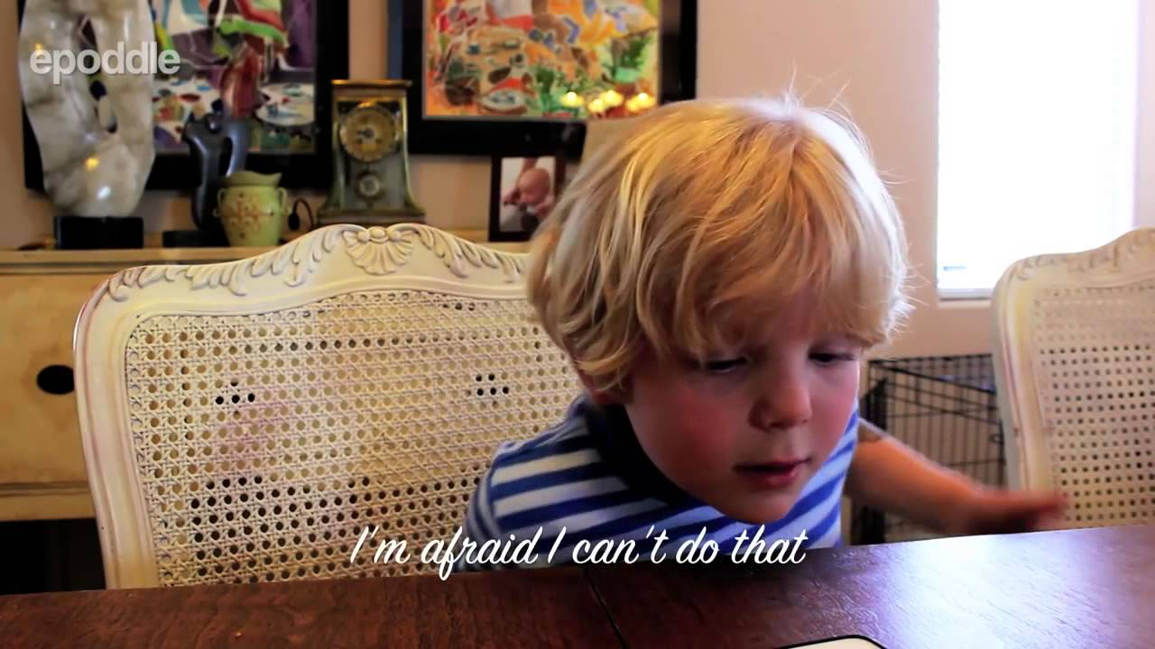 5 year old proves iPhone not smart but stupid