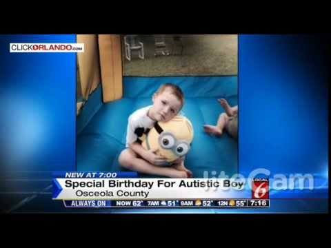 Autistic child gets the surprise of his life for the anniversary