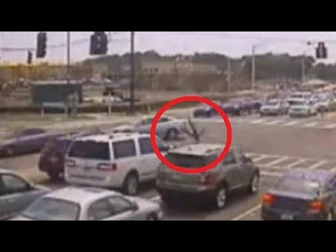 Motorbiker tricks death and walks out of terrific accident