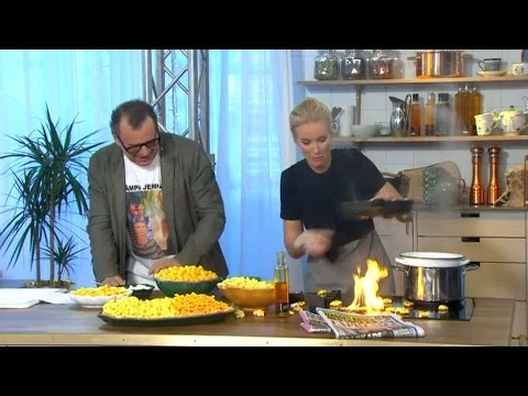 Swedish TV hostess in kitchen trouble!