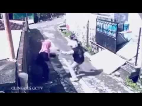 Woman gets back at robber by stealing his motorcycle