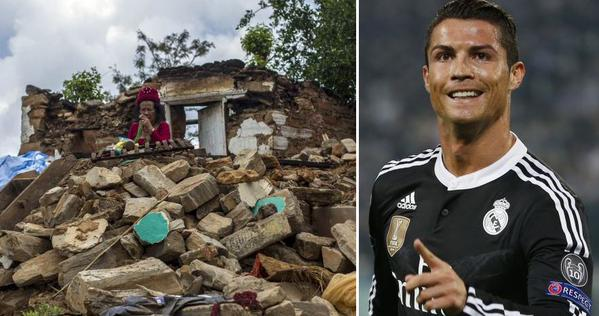 Cristiano Ronaldo reportedly donates £5million to Nepal earthquake relief