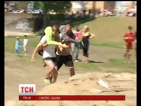 First couple's obstacle race in Kiev