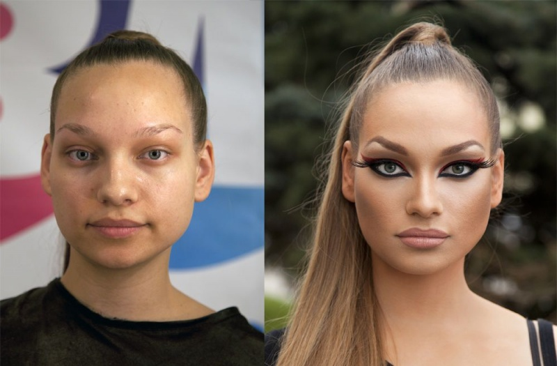 17 photos that show how a woman can 'lie' by using make-up