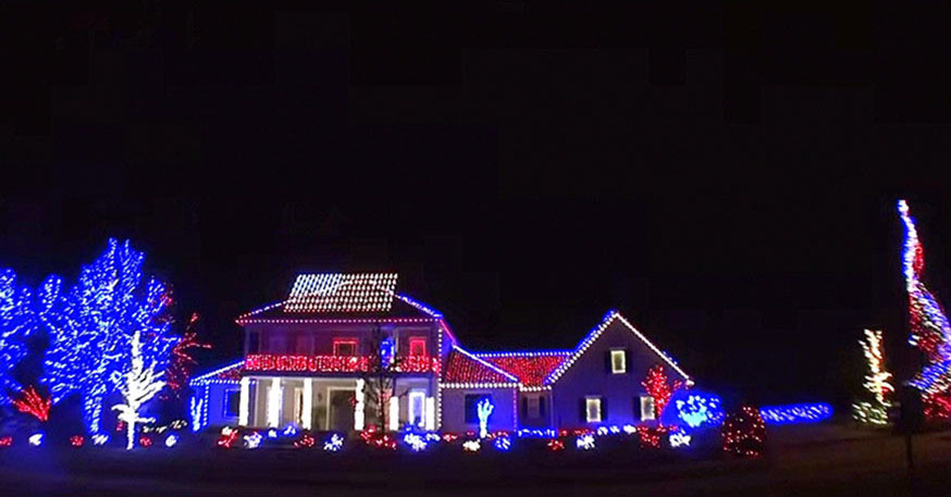 They made Christmas lights honoring our soldiers, the song choice they made is now going viral